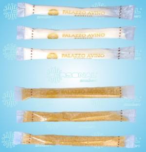 bustine di zucchero stick, stick, stik, bustine stick, bustine trasparenti, transparent sugar sachet