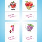 Tovagliolo 17X17 summer fruit