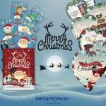 buatine di zucchero, bustine di Natale, Ntale 2016